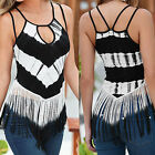 Fashion Womens Sleeveless Vest Shirt Blouse Ladies Casual Tank Tops T-Shirt UK