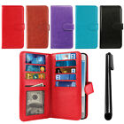 For LG Aristo MS210 LV3 All-In-One Premium Leather Wallet Cover TPU Case + Pen