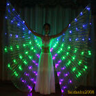 rechargeable LED isis wings belly dance cosplay show light up costume sticks bag
