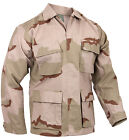 BDU Shirt Tri Color Desert Camo Rip Stop Four Pockets Military Style Rothco 9810