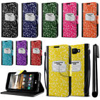 For LG K3 LS450 Composition Book Design Flip Wallet Cover Pouch Case Stand + Pen
