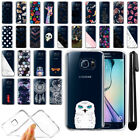 For Samsung Galaxy S6 Edge G925 Ultra Thin Clear TPU Case Phone Cover + Pen