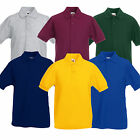 Fruit of the Loom Kids Pique Polo Shirt Top New