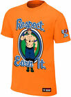 WWE JOHN CENA Respect Earn It Never Give Up Orange YOUTH KINDER T-SHIRT