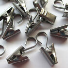 24/120pcs Stainless Steel Clips w/ Hook for Photos Curtain Home Decoration