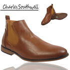 New Mens Chelsea Ankle Boots Work Faux Leather Casual Shoes UK Size 7 8 9 10 11