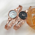Womens Analog Quartz Wrist Watch Golden Bracelet Dress Stainless Steel New