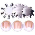 Easy French Tips Smile Line Metal Cutter Edge Trimmer Nail Template DIY Nail Art