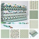 JADE AQUA GREEN - PLAYTIME GEOMETRIC 100% COTTON fabric METRE FQ BUNDE okeo-tex
