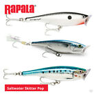Rapala Saltwater Skitter Pop Lures - Bass Pike Surface Popper Sea Fishing Tackle