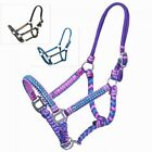 Mini Miniature Horse Small Pony Nylon Braided Cord Halter Adjustable w/ Crystals