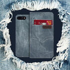 For Galaxy S8 7 6 Note Real Jeans Pocket Wallet Case Flip Cover Shockproof