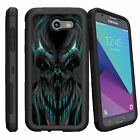 For Samsung Galaxy J3 Emerge | Luna Pro (2017) Heavy Case Holster Clip Skulls