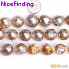 Round Big Large Near Nuclear Edison Pearls Beads For Jewelry Making Strand 15""