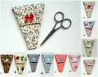 Scissor Holder Case Cover Handmade Fabric Case PLUS  +++ Scissors are included