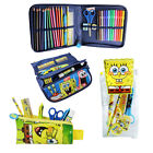 Spongebob Colouring Pens Pencil Case Filled School Drawing Stationary Markers