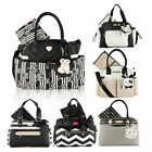 Betsey Johnson Multi Functional 3 pc Baby Diaper Mother Bag with Changing Pad