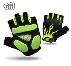 WATERFLY Unisex Half Finger Cycling Gloves Gel pad Lightweight Breathable Gloves