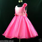 Hot Pink Wedding Party Bridesmaid Flower Girls Dresses SIZE 1-2-3-4-6-7-8-10-12T