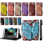 For LG K10 Premier LTE K430 Bible Verses Design Wallet Cover Case Stand + Pen