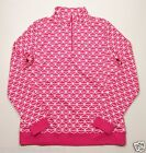 Vineyard Vines Women's L/S Rhododendron Pink 1/4 Zip Whale Tail Pullover Jacket