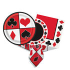 CASINO PARTY Tableware & Decorations (Birthday/Napkins/Plates/Poker/Vegas)Unique