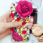 Jewelled Bling Crystal Diamonds Soft TPU Phone back Case Cover & neck strap #K