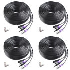 30M 100ft CCTV Video Power Cable Security Camera DVR BNC RCA Wire Connector