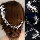 Charming Women Wedding Bridal Party Pearl Floral Hair Clip Headwear SH