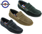 Lambretta Moccasin Driving Shoes Suede Leather Smart Soft Fashion Slip On Mens