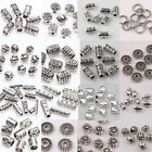 Wholesale 50/100pcs Silver Plated Loose Spacer Beads Charm Jewelry Making DIY