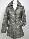 PER SE by CARLISLE SILVER GRAY CRINKLED TRENCH TOPPER JACKET sizes 0 6 NEW $595