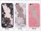 New Girl Lace Flower Clear Phone Case Cover For Apple iPhone 6/6 plus/7/7 plus
