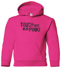 Tough Guys Wear Pink Youth Hoodie Sweatshirt Support Breast Cancer Awareness