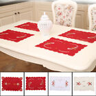 Christmas Dinner Placemat Table Mats Tablecloth Pad Santa Claus Bell Decoration