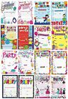 GENERAL Happy BIRTHDAY Party Invitations & Envelopes Choice Boy Male Girl Female
