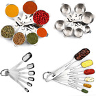 Stainless Steel Kitchen 7 Measuring Cups 6 Spoons Cooking Baking Premium Tools