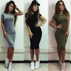 Sexy Women Ladies Bodycon Cocktail Mini Pencil Dress Evening Party Formal TY