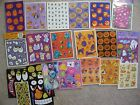 Vtg Hmk Halloween Stickers Spiders Monsters Thanksgiving Turkeys Monsters Pooh &