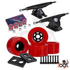 Cal 7 Longboard 180mm Trucks 90mm Fly Wheels ABEC-7 Bearings Hardware Bundle