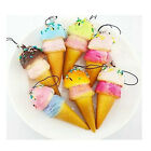 Kawaii Jumbo Lovely Squishy Cake Bread Slow Rising Phone Strap Charms Funny Toys