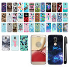 For Motorola Moto M XT1662 HARD Protector Back Case Phone Cover + PEN