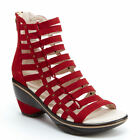 Jambu Brookline Deep Red Suede Gladiator Sandal Women's sizes 6-10/NEW!!