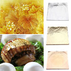 100 Sheets Gold Foil Leaf 100% 24K Food Anti-Aging Facial Spa Craft Gilding US