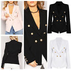 Sexy UK Womens Autumn Western-Style Clothes Jacket Coat Ladies Suit Fitted Tops