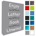 Bathroom Word Art Picture Wall Canvas Print Various Colours/Sizes A1/A2/A3/A4