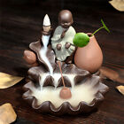 New Ceramic Handicraft Little Monk Smoke Backflow Cone Decor Incense Burner