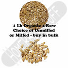 ORGANIC TWO 2 ROW GRAIN Homebrew Beer Brewer's Malt Barley Unmilled or Crushed
