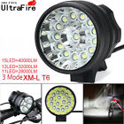 40000LM 15 x T6 LED 3 Modes Bicycle Lamp Bike Light Headlight Cycling Torch Kits