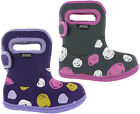 Bogs Wellingtons Boots Baby Waterproof -10 SK Dot Fur Lined Kids Girls UK 6-12